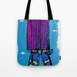 every time he jumped was a rainbow in the sky Tote Bag