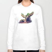 moose Long Sleeve T-shirts featuring Moose by jbjart