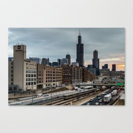 Friday Traffic Canvas Print