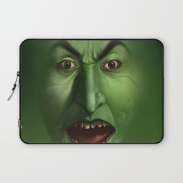 Green Witch face Laptop Sleeve