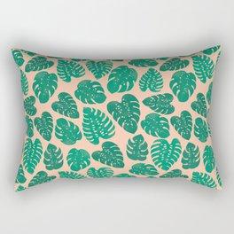 Cheese Plant - Trendy Hipster art for dorm decor, home decor, ferns, foliage, plants Rectangular Pillow