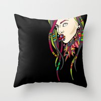 artrave Throw Pillows featuring ARTRAVE LG by Mario Klein