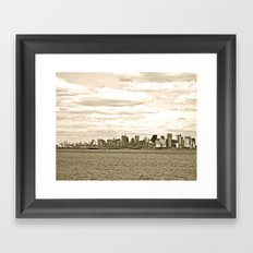 WHITEOUT : Cloudy Skyline Framed Art Print