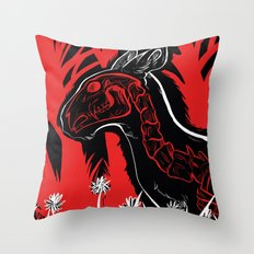 The Demon sleeps Throw Pillow