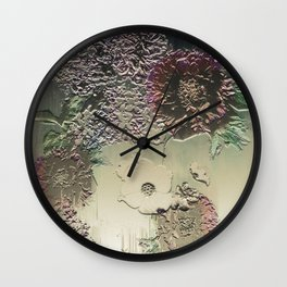 Metallic Botany Wall Clock