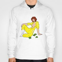 neil gaiman Hoodies featuring April O' Neil Unzipped by RAD Pencils