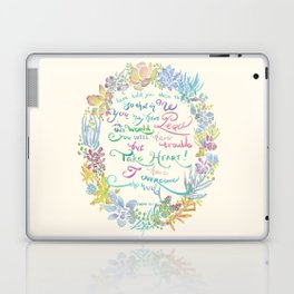 Take Heart - John 16:33 Laptop & iPad Skin