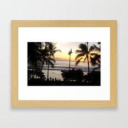 Waikiki Dusk Framed Art Print