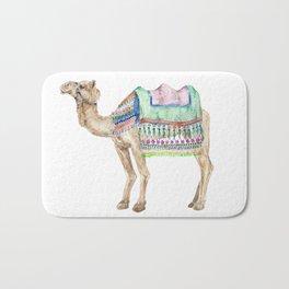 Boho Camel Tassel India Morocco Camel Watercolor Bath Mat