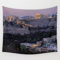 """greece Wall Tapestries featuring Greece by """"CVogiatzi."""