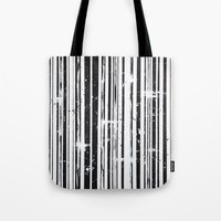 stripe Tote Bags featuring Stripe by Moe Notsu