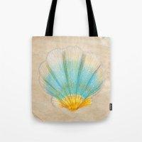 shell Tote Bags featuring shell by Bárbara  Kramer