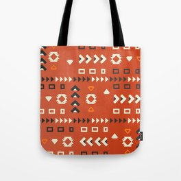 American native shapes in red Tote Bag