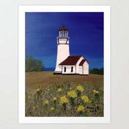 Cape Blanco lighthouse/ Oregon Art Print