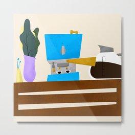 espresso maker setup Metal Print
