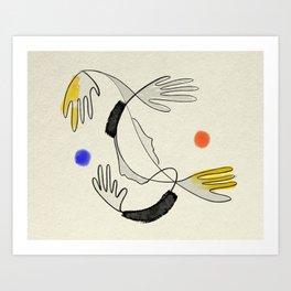 Embrace the air Art Print