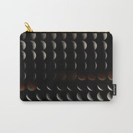 Super Moon, Blood Moon, Total Lunar Eclipse timelapse showing all phases Carry-All Pouch