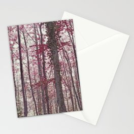 Ethereal Austrian Forest in Burgundy Stationery Cards
