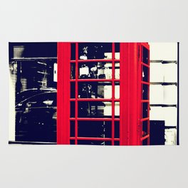 British Telephone Booth Rug