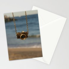 Camera over the ocean Stationery Cards