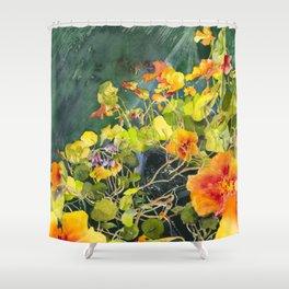 Nasturtium Garden Shower Curtain