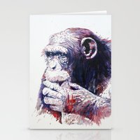monkey Stationery Cards featuring Monkey by Cristian Blanxer