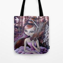 Priscila and the Unicorn Tote Bag
