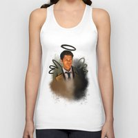 supernatural Tank Tops featuring Castiel - Supernatural by KanaHyde