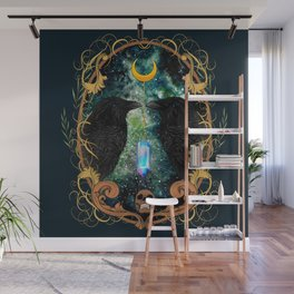 Raven Moon Oracle With Crystal Pendulum Wall Mural