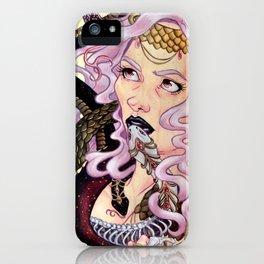 Snake Charmer skateboard painting iPhone Case