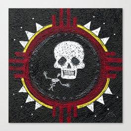 Zia Skeleton Canvas Print