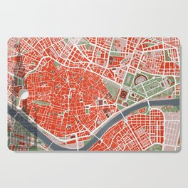 Seville city map classic Cutting Board