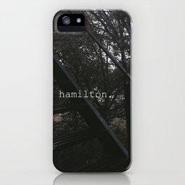 hamilton. iPhone Case