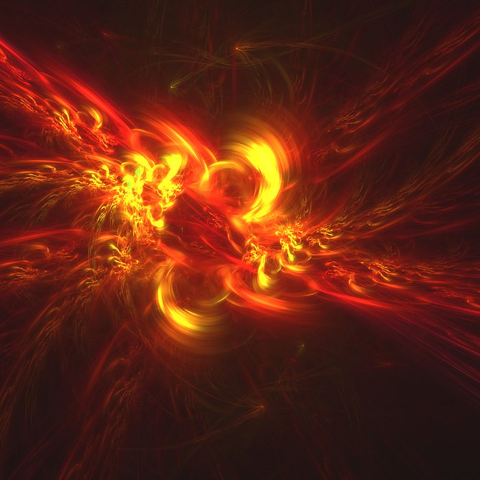Fractal Flame Explosion Comforters