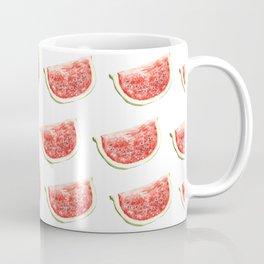 Watercolor Watermelon Slices Pattern Coffee Mug
