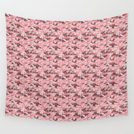 Military Camouflage Pattern - Pink Brown Gray Wall Tapestry