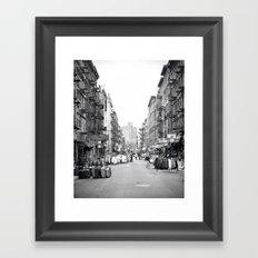 Lower East Side Market Framed Art Print