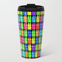 Pixel Gummy Bears Travel Mug