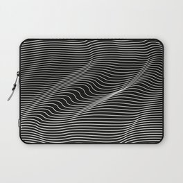 Minimal curves black Laptop Sleeve