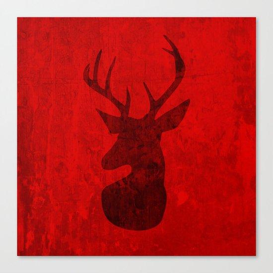 Red Deer Stag Design Canvas Print
