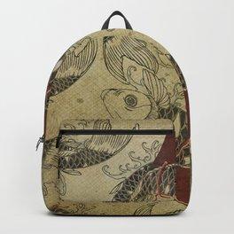 ying and yang shark fin goldfish Backpack