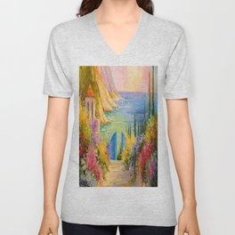 Road to the sea Unisex V-Neck