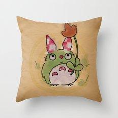 A kockas fulu nyultoro Throw Pillow