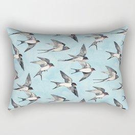 Blue Sky Swallow Flight Rectangular Pillow