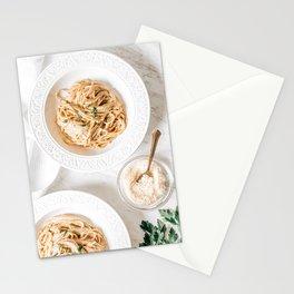Carbonara Spaghetti Italian Pasta, Food Photography Print, Kitchen Restaurant Cuisine Art Print Stationery Cards