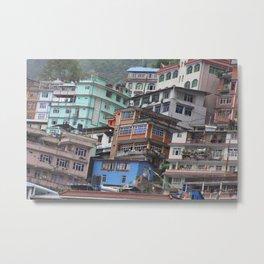 Zhangmu, Tibet Metal Print