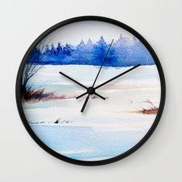 Winter Landscape 2 Wall Clock