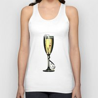 champagne Tank Tops featuring Champagne by CokecinL