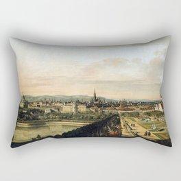 Bernardo Bellotto, Canaletto Vienna Viewed from the Belvedere Palace Rectangular Pillow