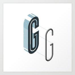 The Exploded Alphabet / G Art Print